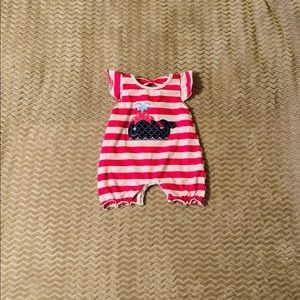 Pink and white outfit size 6-12 mos